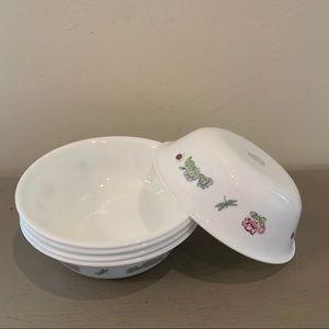 Five Vintage Camellia Soup/Cereal Bowls